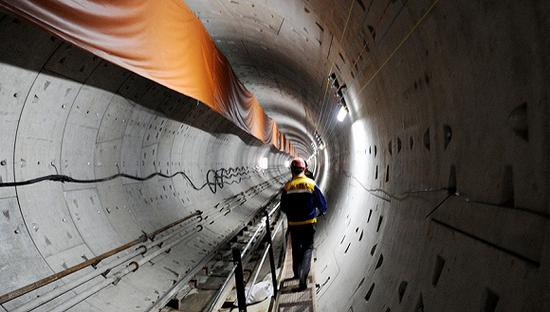包头地铁项目于2017年5月开工,同年8月被叫停 图自界面新闻