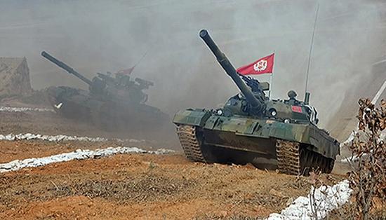 朝鲜人民军坦克部队。东方IC 资料图
