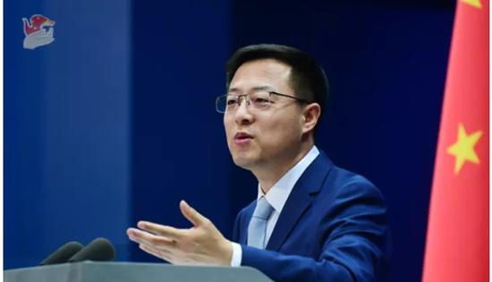 3月12日,中国外交部发言人赵立坚答记者问。/中国外交部官网截图