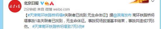 天津南环铁路桥坍塌失联者已找到 无生命体征图片