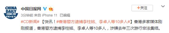 香港警方逮捕李柱铭、李卓人等10多人图片