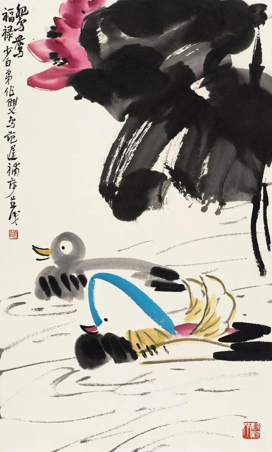 鸳鸯福禄 65cm×39cm 2018年