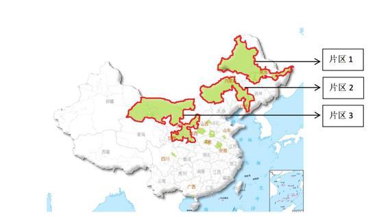 地下水超标水源地所在城市全国分布状况。(点击查看大图)
