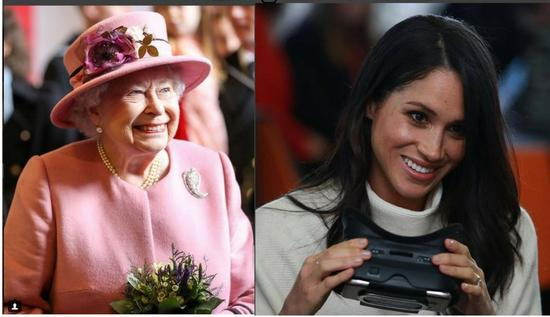 英女王与梅根