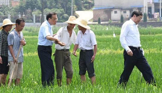 视频:农民下水田为李克强让路 被总理一把拉上来