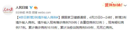 [天富]4月23日新增2例境外输入病例天富图片