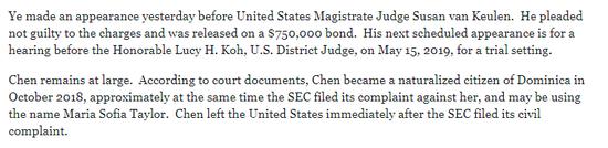 ▲截圖來自美國司法部和證券交易委員會的公開材料
