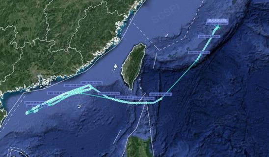 美军电子侦察机再对中国抵近侦察 紧贴广东海岸飞行图片