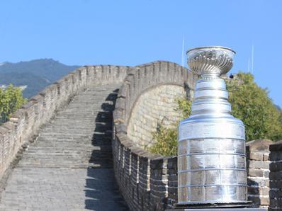 斯坦利杯抵达北京造访长城