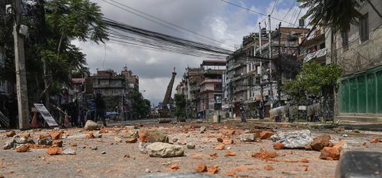 尼泊尔首都圈重要城市帕坦9月4日全面戒严