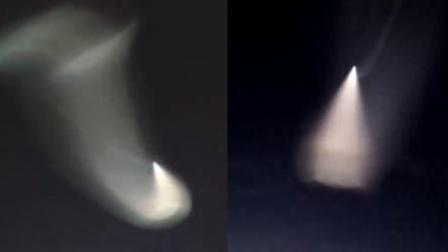 """视频:多地出现""""不明飞行物""""专家: 火箭尾气被照"""