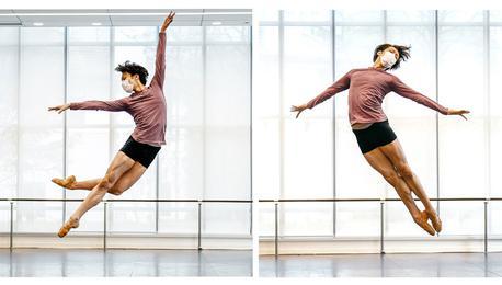 上海芭蕾舞团复工:戴着口罩身姿更显完美