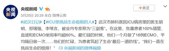 武汉日记:ICU里挑战生命极限的