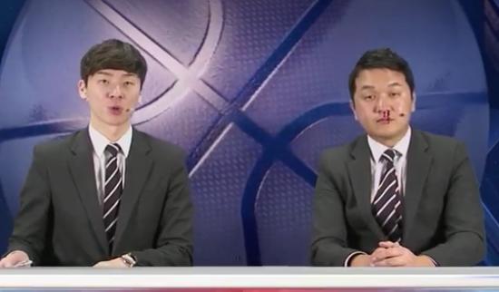 视频:韩国解说员镜头前鼻血狂流 眼神无辜吓坏搭档