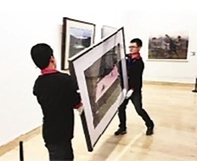 郑硕作品被撤展。图片来源/中国美协网站