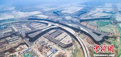 Beijing Airport. Photo of the Beijing Airport Airport Construction Headquarters