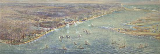 美军湖上舰队攻击约克