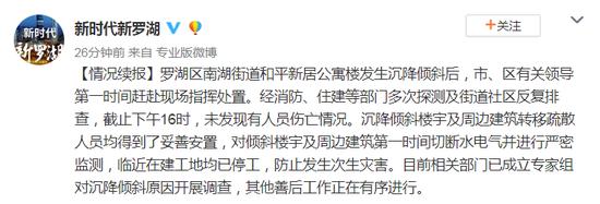 深圳,深圳一栋楼房倾斜倒塌