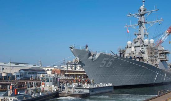 美国海军宣称麦凯恩号驱逐舰今日穿航台湾海峡