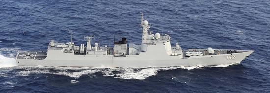 图为济南号驱逐舰资料图。