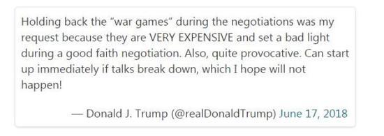 美国总统特朗普发布的推特
