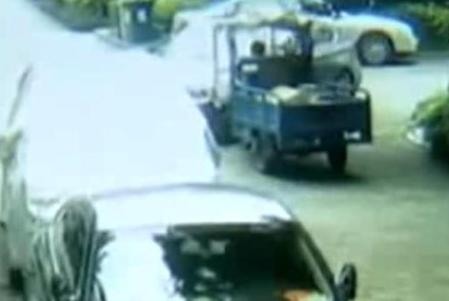 视频|少年骑三轮车撞到宝马:你这么有钱,为什么一