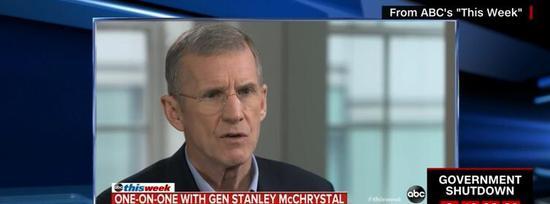 麦克里斯特尔接受ABC采访截图