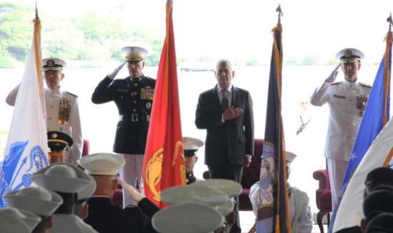 资料图:2018年5月,美军太平洋司令部更名仪式现场。