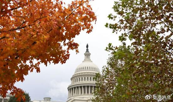 美国首都华盛顿,国会山。(新华社)