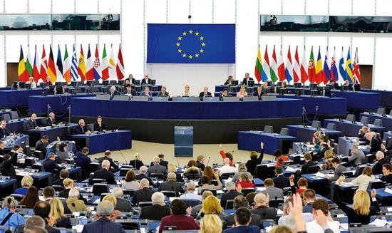▲欧盟会议资料图