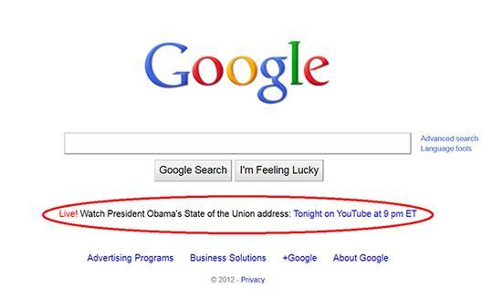 根据快照,谷歌首页确实在2012-2016年宣传了奥巴马的演讲。