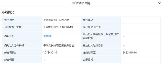 北京普思投资无限公司司法辅佐概况。截图滥觞:天眼查