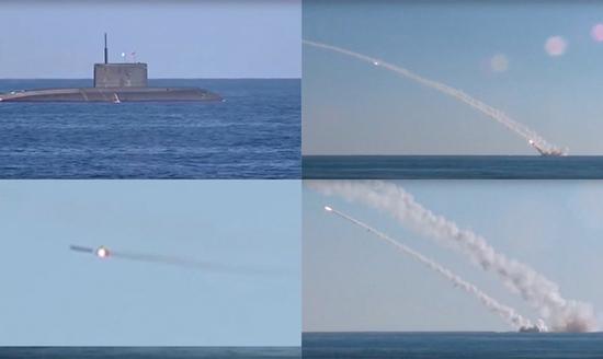 """""""基洛""""级常规潜艇已经部署在地中海,此前还使用巡航导弹进行了实战。"""