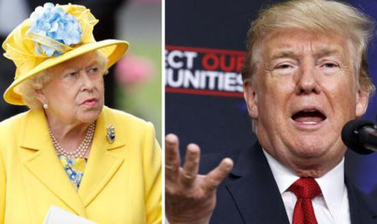 英国女王和美国总统特朗普