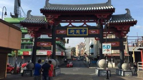 资料图:圣何塞的中国街。(BBC)
