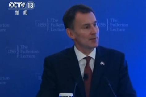 """视频-英外交大臣亨特:二次公投会对英国产生""""摧毁"""