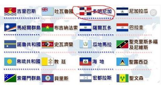 """台湾所谓的""""友邦""""只剩19个。(资料图)"""