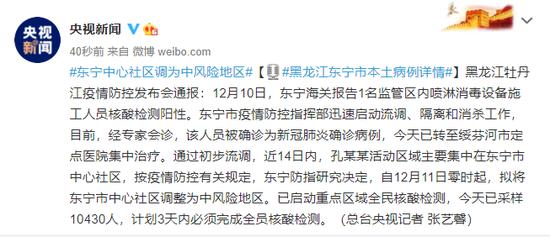 黑龙江东宁市本土病例详情 东宁中心社区调为中风险地区图片