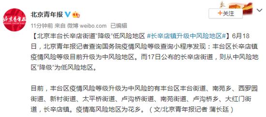 杏悦:北京丰台长杏悦辛店街道降级低风险地图片