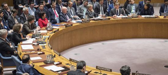 当天的安理会会议现场 图自联合国