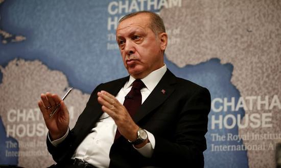 土耳其总统埃尔多安(图:路透社)。