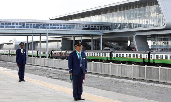 中國援建的蒙巴薩-內羅畢鐵路。