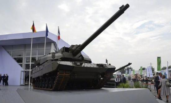 图为德法联合研制的新型坦克