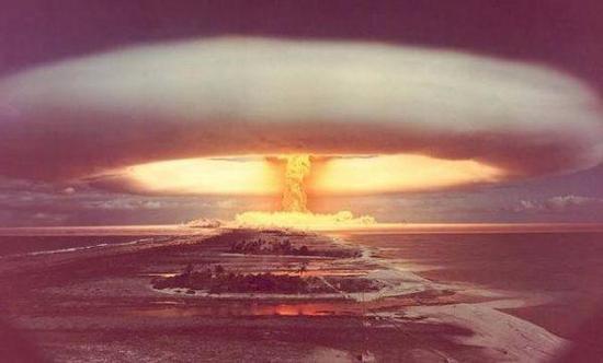 资料图片:氢弹试爆瞬间。(图片来源于网络)