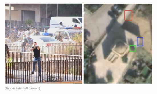 黎巴嫩示威者向警方发射炮弹。/ 半岛电视台网站截图