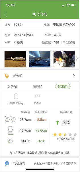 图片:截图自航旅纵横app