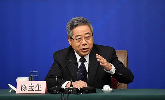 教育部党组书记、部长陈宝生。视觉中国 资料