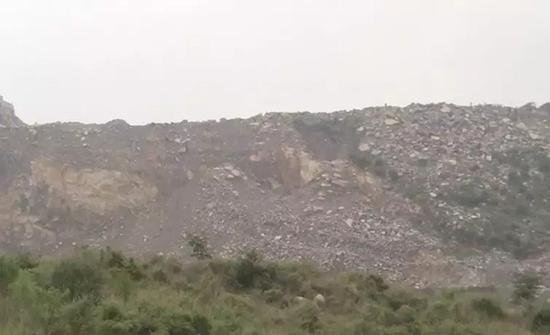 新乡市孟电集团水泥有限公司开采现场(检查时已停工)