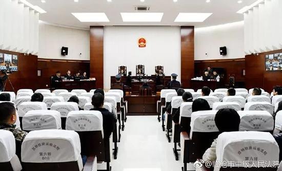 图为蒋兆岗受贿、滥用职权一案进行一审公开宣判