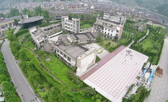 ?映秀地震遗址航拍 图 | 视觉中国